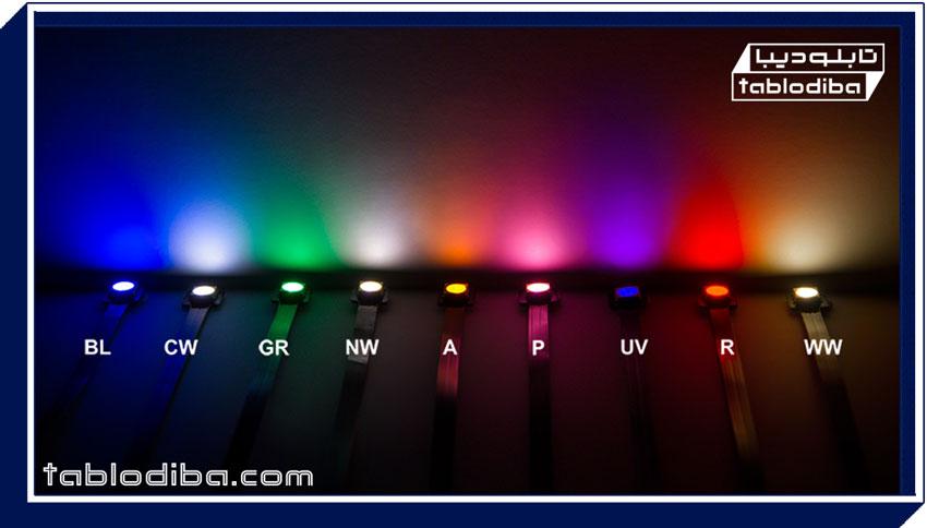 تنوع رنگ نور اس ام دی در تابلو سازی