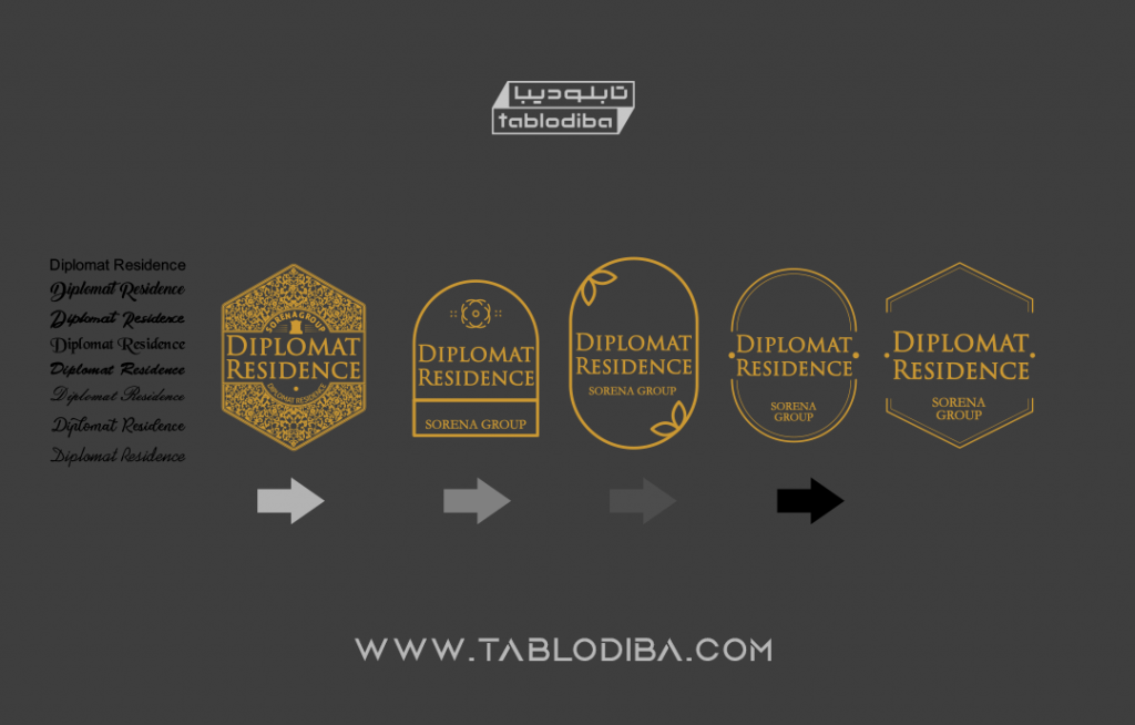 مراحل طراحی تابلو اسم ساختمان