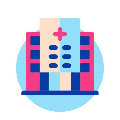 آیکون تابلوی مراکز درمانی و بیمارستان ها